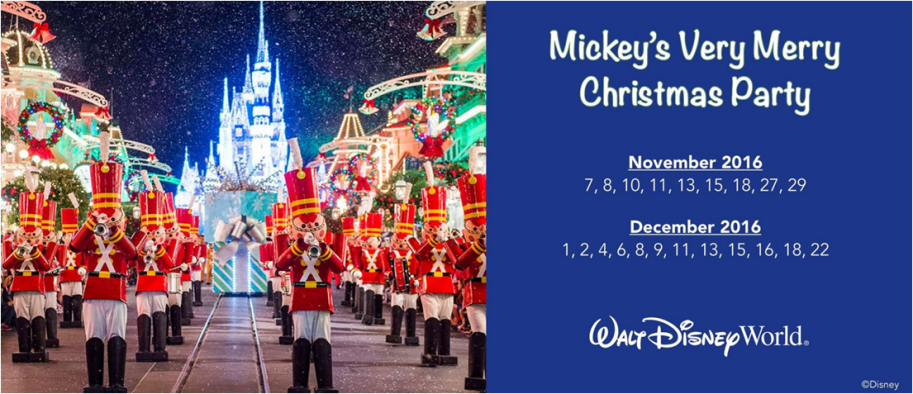 2016 mvmcp dates the christmas party - Disney Christmas Party Tickets